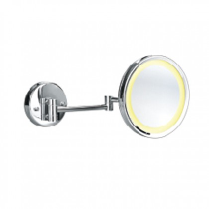 Bareno LED. Cosmetic Mirror, Brass Chrome